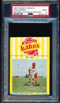 1967 Kahn's Baseball- Tom Harper, Reds- PSA Mint 9 (Fielding Pose- Glove on Ground)