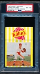 1967 Kahn's Baseball- Jim Maloney, Reds- PSA NM-MT 8 – Yellow & White Striped version-with top Ad tab