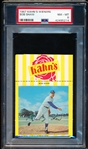 1967 Kahn's Baseball- Bob Shaw, Mets- PSA Nm-Mt 8 – with Top ad tab