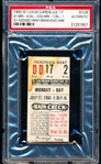 July 17, 1950- Brooklyn Dodgers @ St. Louis Cardinals- Ticket Stub- PSA Authentic