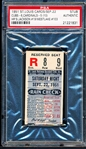 Sept 22, 1951- Chicago Cubs @ St. Louis Cardinals- Ticket Stub- PSA Authentic