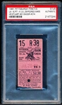July 28, 1961- LA Dodgers @ Pitt Pirates- Ticket Stub- PSA Authentic