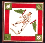 1914 B18 Baseball Blanket- Ainsmith, Wash AL- Green Pennants Version