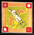 1914 B18 Baseball Blanket- Frank Chance, New York AL- Green Infield Version