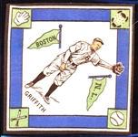 1914 B18 Baseball Blanket- Griffith, Boston NL- White Infield/ Green Pennants