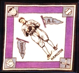 1914 B18 Baseball Blanket- Hamilton, St. Louis AL- Purple Base Paths