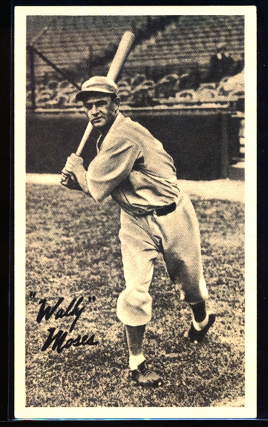 1936 R314 Goudey Wide Pen Premium- Creamy Stock- Wally Moses