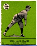 1941 Goudey Bb- #14 Jack Kramer, Browns- Green Color Version