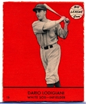 1941 Goudey Bb- #15 Dario Lodigiani, White Sox- Red Color Version