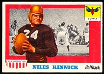1955 Topps All- American Football- #6 Niles Kinnick, Iowa