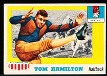 1955 Topps All- American Football- #9 Tom Hamilton, Navy- SP.
