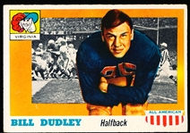 1955 Topps All-American Football- #10 Bill Dudley, Virginia