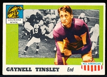 1955 Topps All- American Football- #14 Gaynell Tinsley- with Whizzer White Bio on Back