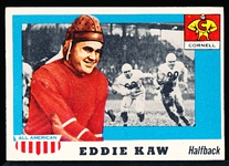1955 Topps All- American Football- #15 Eddie Kaw SP, Cornell