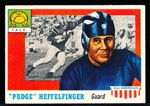 1955 Topps All- American Football- #18 W.W. Heffelfinger RC SP, Yale