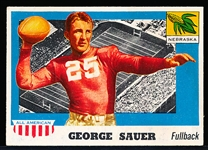 1955 Topps All- American Football- #31 George Sauer, Nebraska