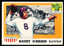 1955 Topps All- American Football- #34 Davey O'Brien RC, TCU