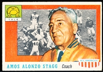 1955 Topps All-American Football- #38 Amos Alonzo Stagg, Yale