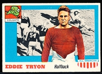 1955 Topps All- American Football- #42 Eddie Tryon RC, Colgate- RC SP!
