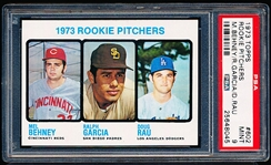 1973 Topps Baseball- #602 Rookie Pitchers- PSA Mint 9- Hi#