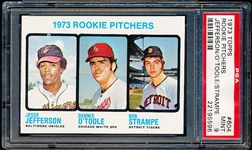 1973 Topps Baseball- #604 Rookie Pitchers- PSA Mint 9- Hi#