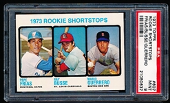 1973 Topps Baseball- #607 Rookie Shortstops- PSA Mint 9- Hi#