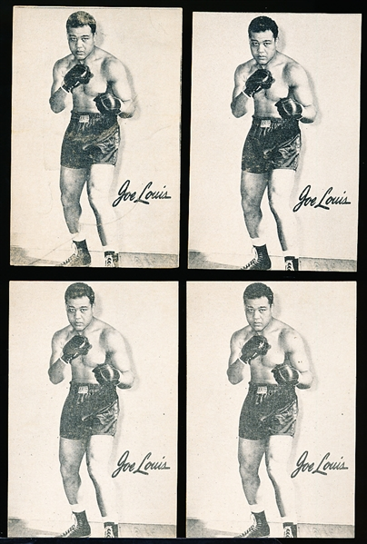 1947 Bond Bread Boxing- Joe Louis- 4 Cards