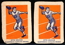 1952 Wheaties Fb- Otto Graham, Browns- Action Pose- 2 Cards