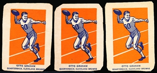 1952 Wheaties Fb- Otto Graham, Browns- Action Pose- 3 Cards