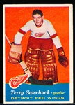 1957-58 Topps Hockey- #35 Terry Sawchuk, Red Wings