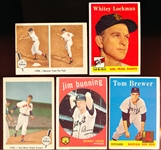 Five Older Baseball Cards