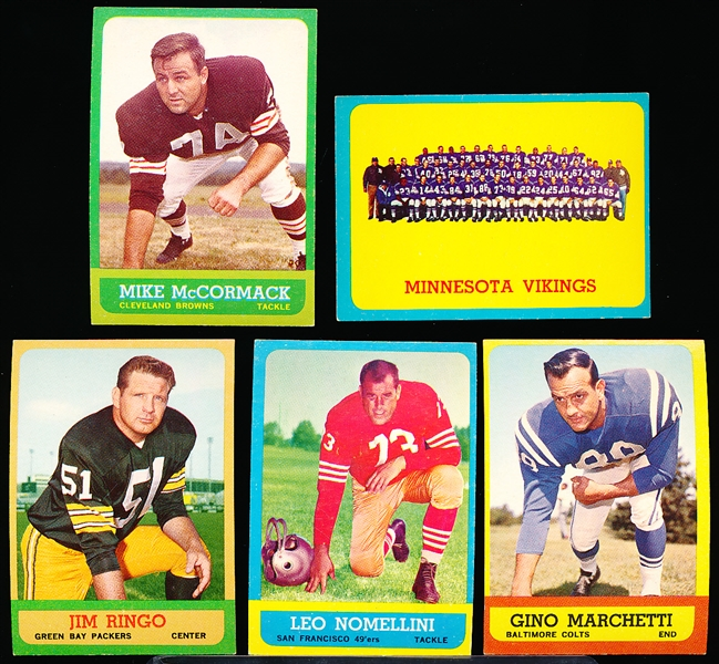 1963 Topps Fb- 5 Diff