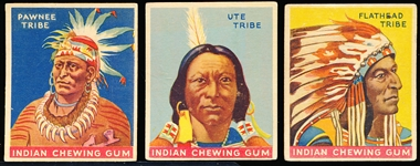 "1933-'40 Goudey Gum Co. ""Indian Gum"" Series of 96- 15 Diff. Low Numbers"