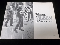 "1960's Fender Musical Instruments ""Fender Album of Stars"" Volume 2 with Seven Frameable Picture Pages (Some Double-Sided)"