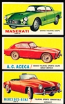 "1961 Topps ""Sports Cars"" (R714-29)- 15 Diff."