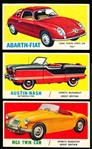 "1961 Topps ""Sports Cars"" (R714-29)- 12 Diff."