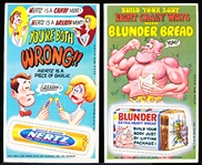 "1969 Topps ""Wacky Ads"" (R706-12)- 4 Diff. Large Perforations & One Small Perforation Card"